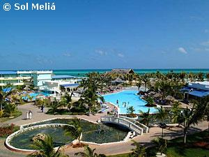 Panoramic view of the hotel. Cayo Guillermo