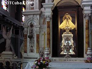 Caridad del Cobre Sanctuary. Image of the Virgin