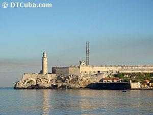 View of the Castle of the Three Kings of El Morro from Havana`s Malecón