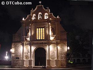 Night view of Paula Church