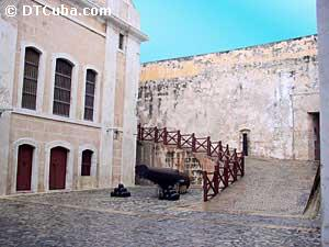 Interior view of El Morro Castle.