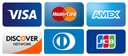 We accept VISA and MasterCard credit cards.