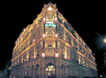 Façade of Plaza Hotel. Night View